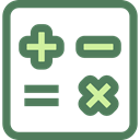 calculator, education, technology, maths, Calculating, Technological DimGray icon