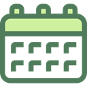 Calendar, time, date, Organization, Calendars, Schedule, interface, education, Administration DimGray icon