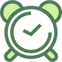Clock, time, timer, alarm clock, Tools And Utensils DimGray icon
