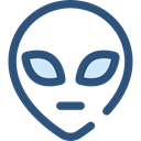Alien, space, galaxy, extraterrestrial, people, user, Ufo, Avatar DarkSlateBlue icon