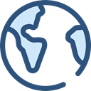 global, Geography, worldwide, Maps And Flags, Planet Earth, Maps And Location DarkSlateBlue icon