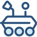 Automobile, Moon Rover, science, transportation, transport, vehicle DarkSlateBlue icon
