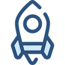 transport, Space Ship, Rocket Ship, Space Ship Launch, Rocket Launch, Rocket, transportation DarkSlateBlue icon