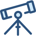 space, telescope, Tools And Utensils, science, education, Observation DarkSlateBlue icon