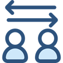Arrows, right, Left, interface, Direction, transfer, bidirectional DarkSlateBlue icon