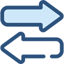 right, Left, interface, Direction, transfer, bidirectional, Arrows DarkSlateBlue icon