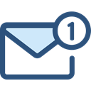 Email, envelope, Message, mail, Note, interface, Communications DarkSlateBlue icon