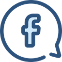 interface, Facebook, social media, social network, Message, Chat, Logo, Messenger, logotype, Logos, Communications DarkSlateBlue icon