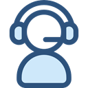 support, people, user, Headphones, Call, technology, Telemarketer, Microphone, Avatar, customer service Icon