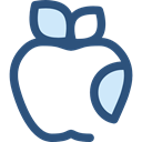 Apple, food, Fruit, organic, diet, vegetarian, vegan, Healthy Food, Food And Restaurant DarkSlateBlue icon