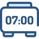 Time And Date, time, timer, education, digital, alarm clock, Tools And Utensils, Clock DarkSlateBlue icon