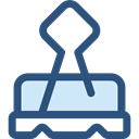 miscellaneous, Attachment, Paperclip, Clip, Clips, Tools And Utensils, School Material, Office Material DarkSlateBlue icon