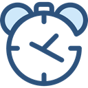 Clock, time, timer, alarm clock, Tools And Utensils, Time And Date DarkSlateBlue icon