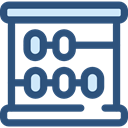mathematics, calculator, Business, education, Abacus, mathematical, maths, Tools And Utensils, Calculating DarkSlateBlue icon