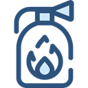 security, safety, emergency, Fire extinguisher, Tools And Utensils, Firefighting DarkSlateBlue icon
