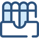 Folder, documents, Folders, office, Business, storage, Material, Files And Folders DarkSlateBlue icon