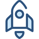 Rocket Launch, Space Ship, Rocket Ship, Space Ship Launch, Rocket, transportation, transport Black icon
