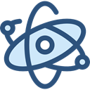science, Atomic, Atom, education, nuclear, Electron, physics DarkSlateBlue icon