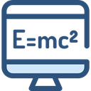 monitor, screen, science, education, physics, maths DarkSlateBlue icon