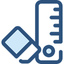 ruler, Eraser, education, writing, School Materials, Tools And Utensils DarkSlateBlue icon