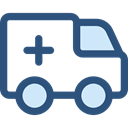 medical, transportation, transport, vehicle, Ambulance, emergency, Automobile, Healthcare And Medical DarkSlateBlue icon
