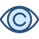 view, medical, interface, Eye, visible, Visibility, Healthcare And Medical DarkSlateBlue icon