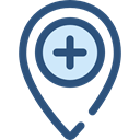pin, placeholder, signs, map pointer, Maps And Flags, Map Location, Map Point, Maps And Location, Healthcare And Medical DarkSlateBlue icon