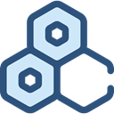 medical, education, Cells, Biology, Hexagon, Healthcare And Medical DarkSlateBlue icon