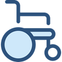 wheelchair, Disabled, transport, handicap, Healthcare And Medical DarkSlateBlue icon