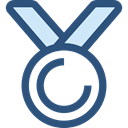 award, medal, Badge, Emblem, winner, Champion, reward, insignia, Sports And Competition DarkSlateBlue icon