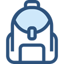 education, travel, Backpack, luggage, baggage, Bags DarkSlateBlue icon