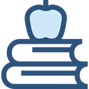 education, Stacks, study, stacked, Educative, Apple, Book, Books, stack DarkSlateBlue icon