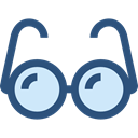 Glasses, education, optical, vision, eyeglasses, reading glasses, Tools And Utensils, Ophthalmology DarkSlateBlue icon