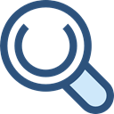 search, magnifying glass, zoom, detective, Loupe, Tools And Utensils DarkSlateBlue icon