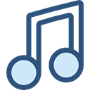 musical note, Quaver, music, music player, song DarkSlateBlue icon