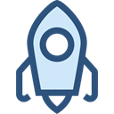 Rocket, education, transport, Space Ship, Rocket Ship, Space Ship Launch, Rocket Launch DarkSlateBlue icon