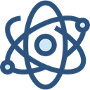 science, physics, Atomic, education, nuclear, Electron DarkSlateBlue icon