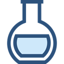 chemical, Tools And Utensils, Test Tube, Flasks, science, education, Chemistry, flask DarkSlateBlue icon