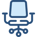 miscellaneous, Seat, Chair, buildings, sitting, Desk Chair, Furniture And Household DarkSlateBlue icon