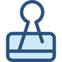 miscellaneous, Attachment, Paperclip, Clips, Tools And Utensils, School Material, Office Material DarkSlateBlue icon