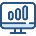 Business, Stats, Analytics, graphic, seo, Business And Finance, Seo And Web, Laptop, monitor, screen DarkSlateBlue icon