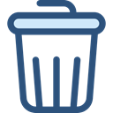 Garbage, Can, Tools And Utensils, miscellaneous, Trash, interface, Basket, Bin DarkSlateBlue icon