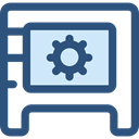 open, security, Business, Bank, savings, Safebox, banking, Tools And Utensils, Business And Finance DarkSlateBlue icon