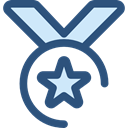 award, medal, winner, Champion, Sports And Competition DarkSlateBlue icon