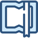 Library, education, reader, reading, leisure, open book, Book, School Material DarkSlateBlue icon