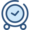 Clock, time, watch, tool, square, Tools And Utensils, Time And Date DarkSlateBlue icon