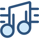 interface, music player, song, music note, musical note, Quaver, Music And Multimedia, music DarkSlateBlue icon