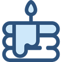 birthday, cake, food, Dessert, Food And Restaurant, Birthday And Party, Celebration, Bakery, Birthday Cake, Birthday Cake Piece DarkSlateBlue icon