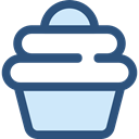 food, cupcake, muffin, Dessert, sweet, Bakery, baked, Food And Restaurant DarkSlateBlue icon