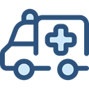 medical, transportation, transport, vehicle, Ambulance, emergency, Automobile DarkSlateBlue icon